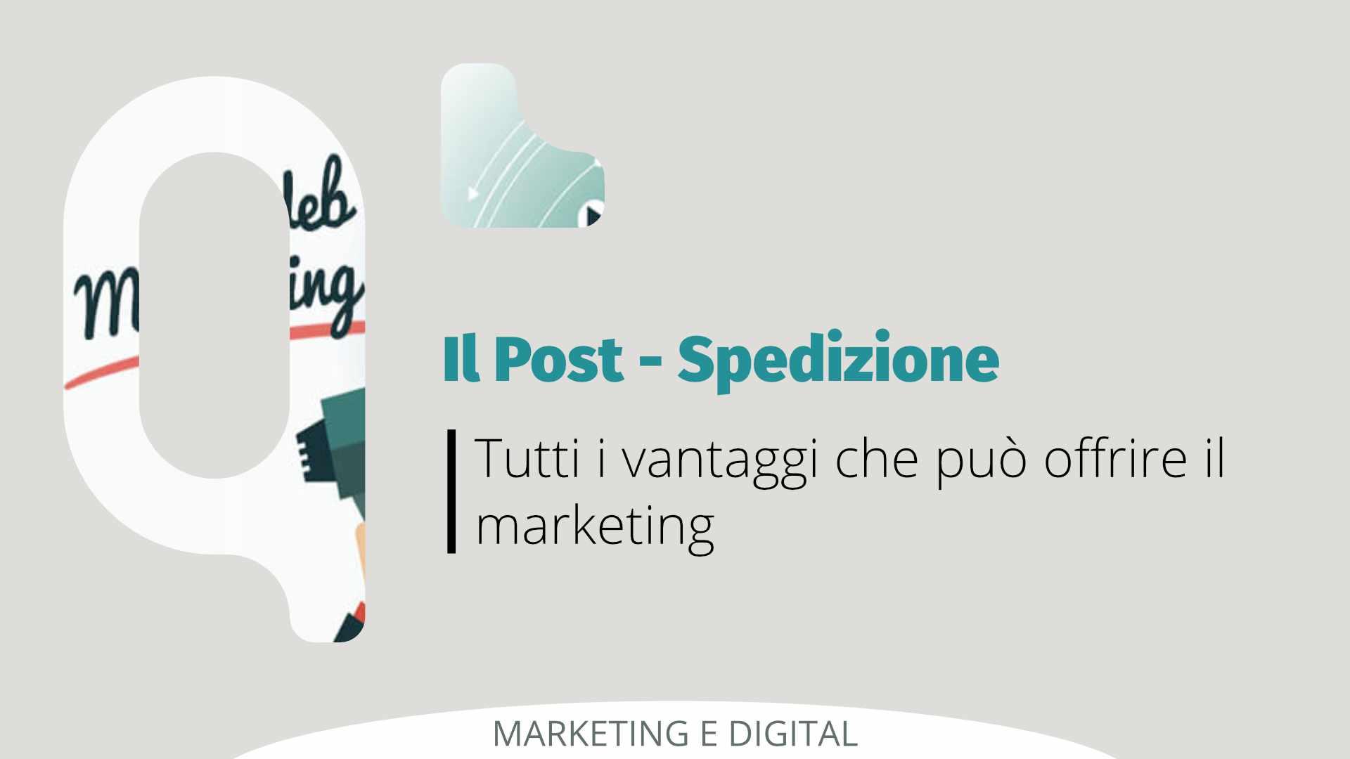 Opportunità di marketing nel post spedizione