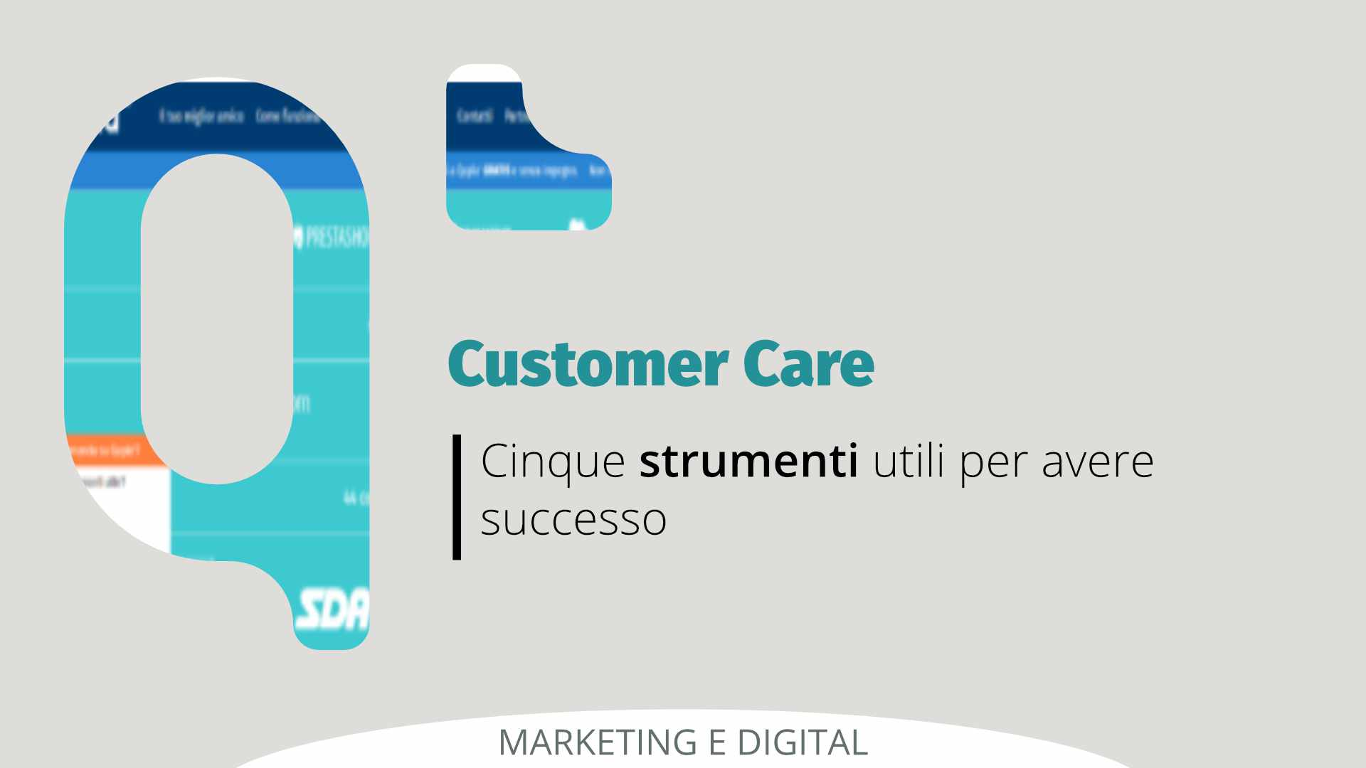 Customer Care successo