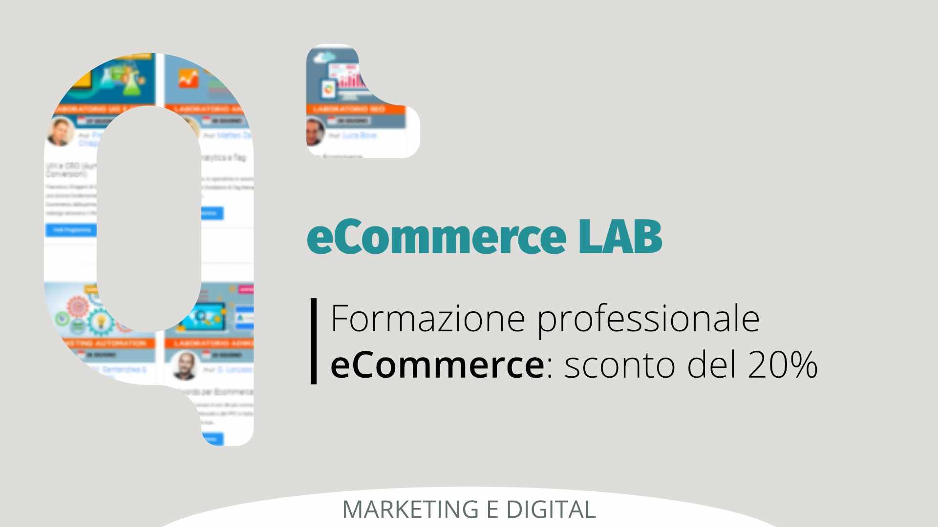 Formazione professionale eCommerce: sconto -20% su corsi eCommerce Lab
