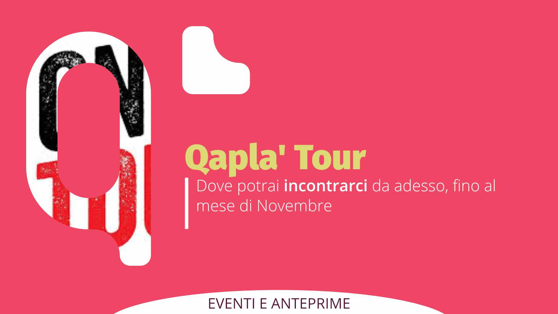 """Qapla' """"tour"""". Dove incontrarci da qui a Novembre."""