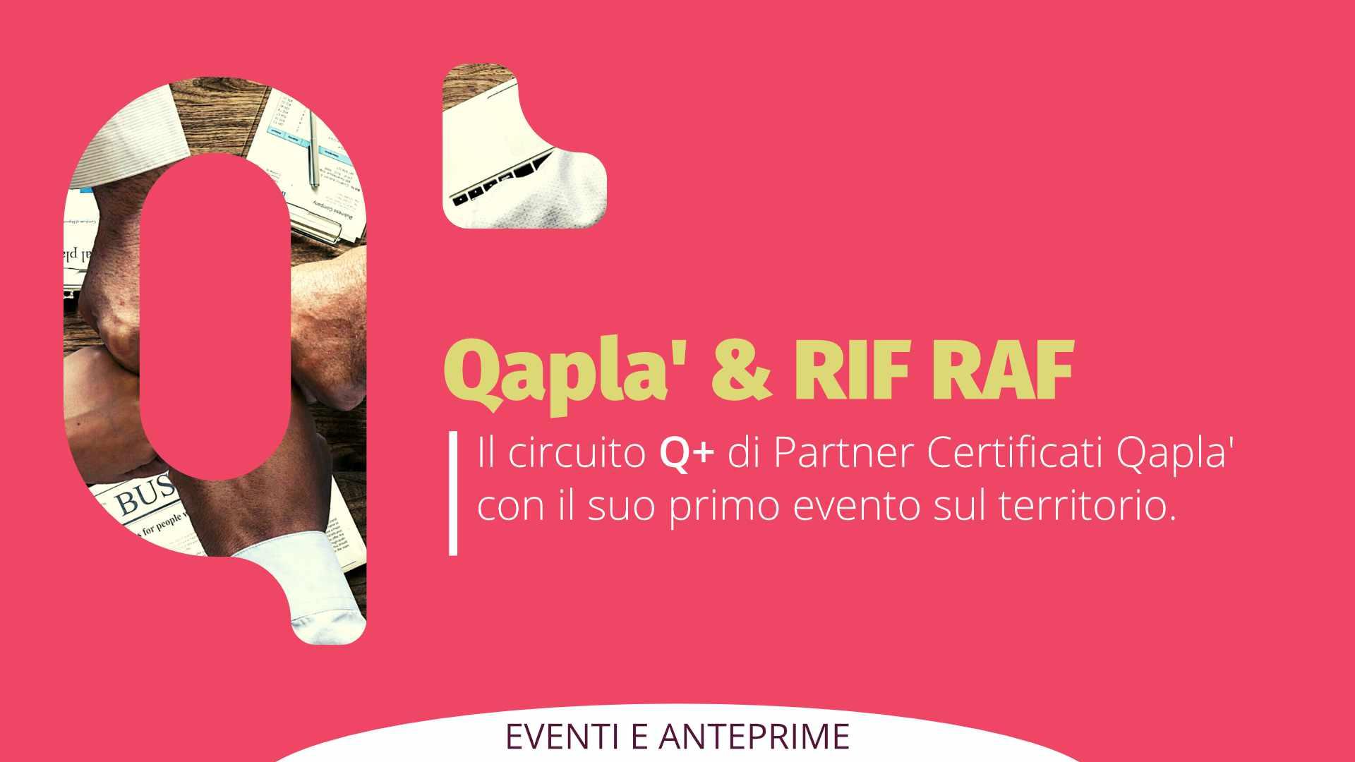 Il Primo evento Q+: workshop Qapla' & RIF RAF il 18 Settembre a Napoli
