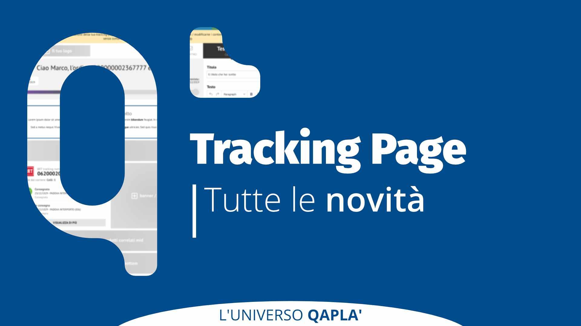 Nuova Tracking Page Qapla' – presentazione e workshop
