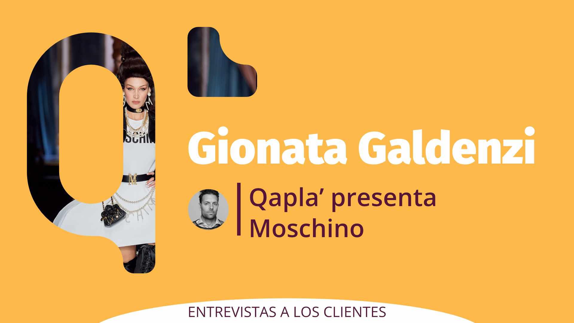Qapla' presenta Moschino: Entrevista a Gionata Galdenzi