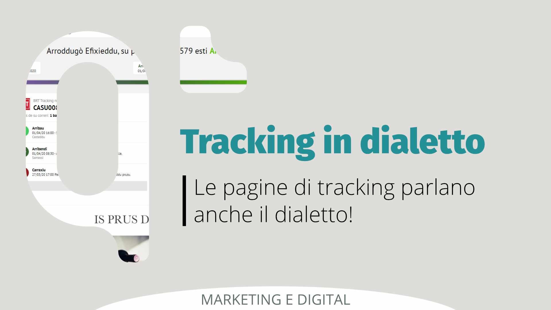 tracking dialetto