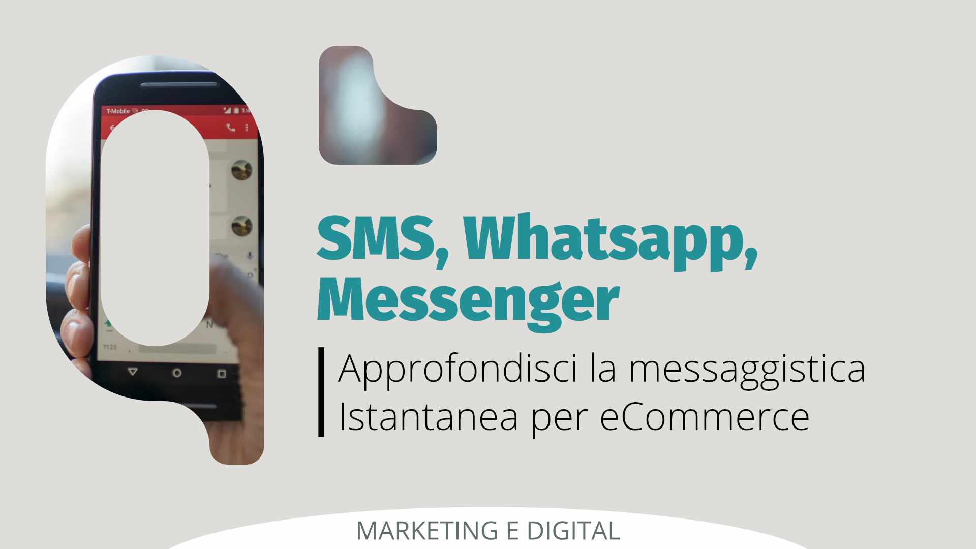 Messaggistica Istantanea per eCommerce: SMS, Whatsapp e Messenger