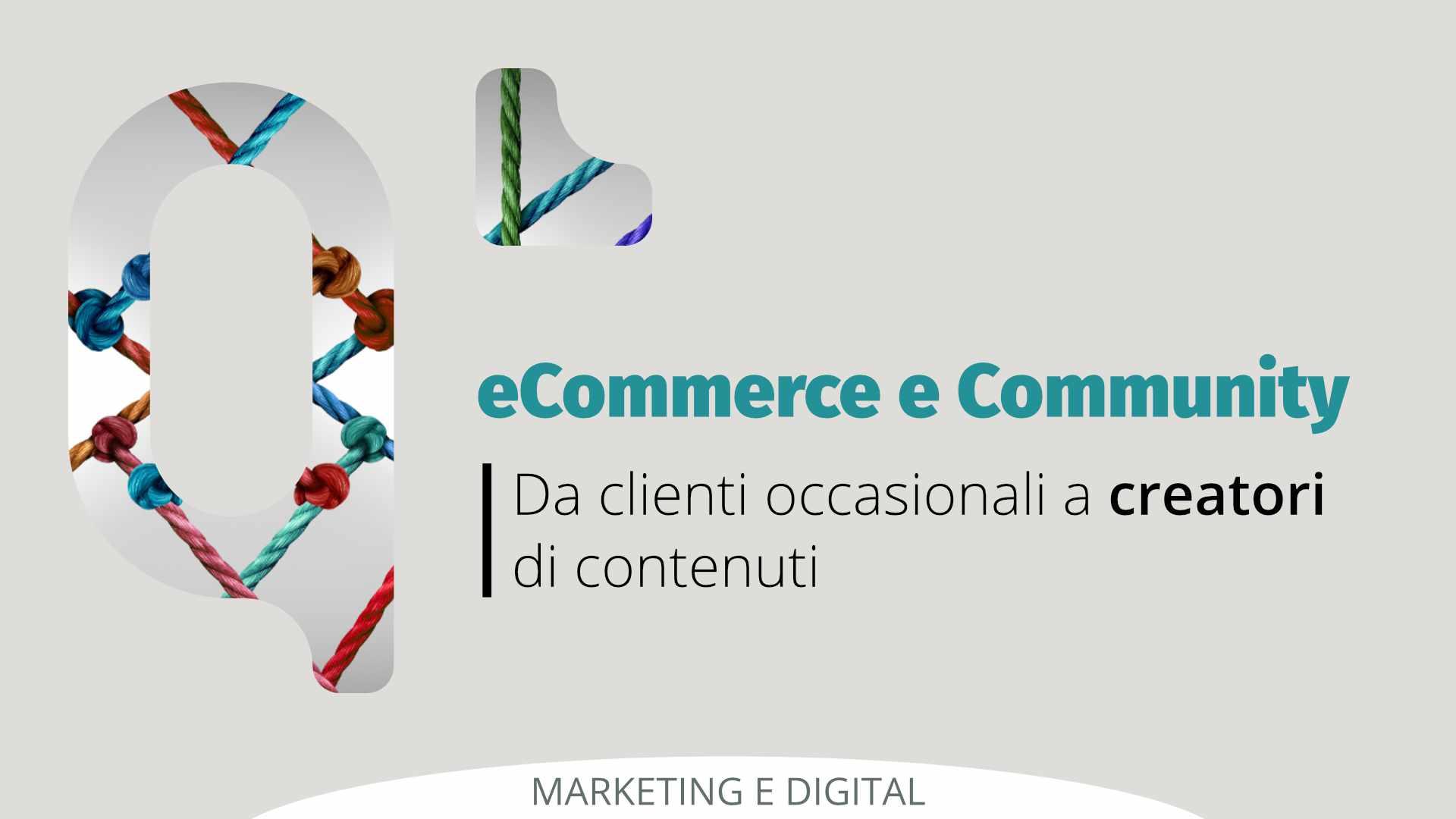 eCommerce e Community