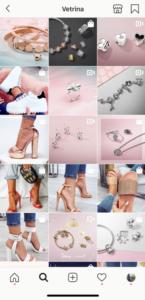 """""""funzione esplora"""" vetrina Instagram"""