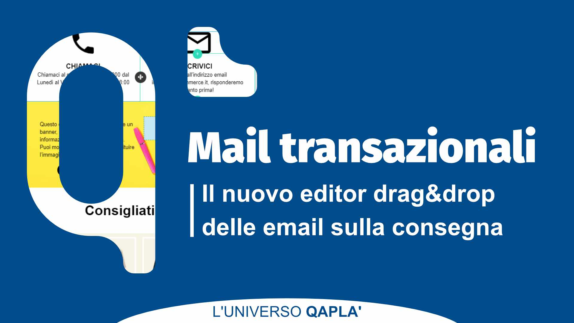 Editor drag&drop Email consegna