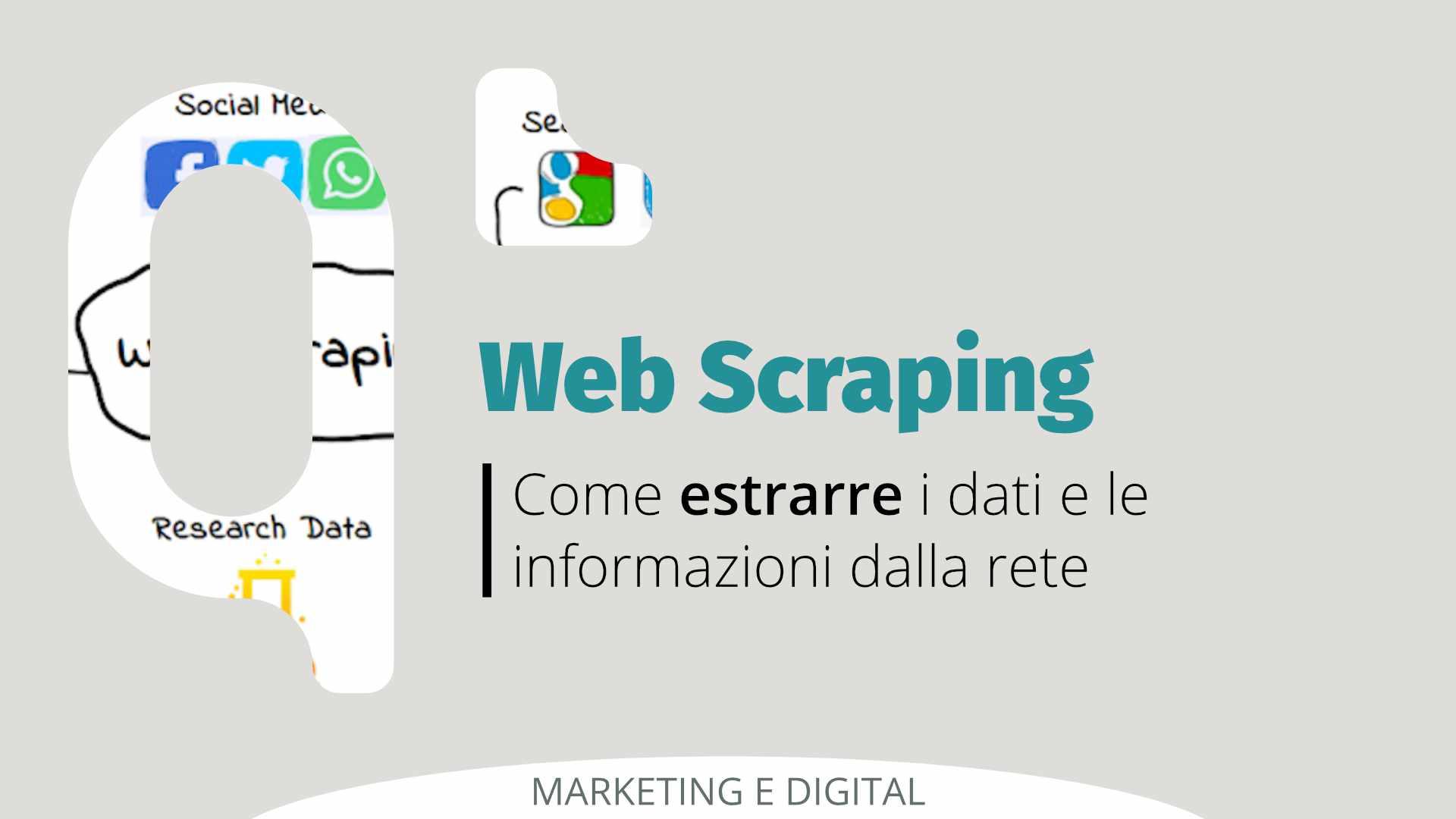web scraping, estrarre dati dalla rete