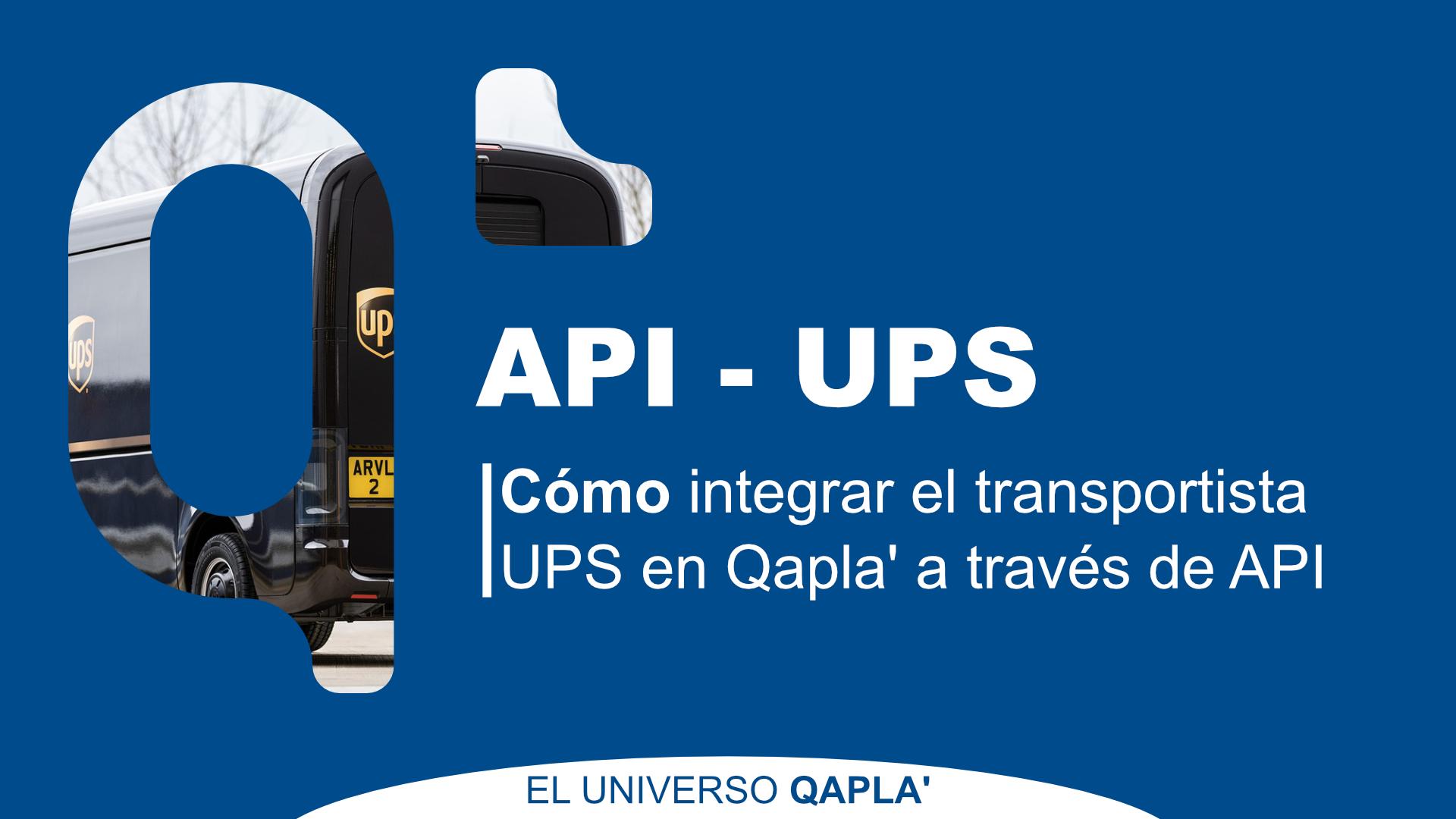 Integración UPS en Qapla'