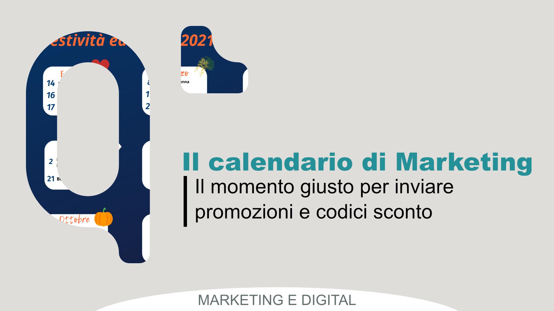 Calendario con date marketing