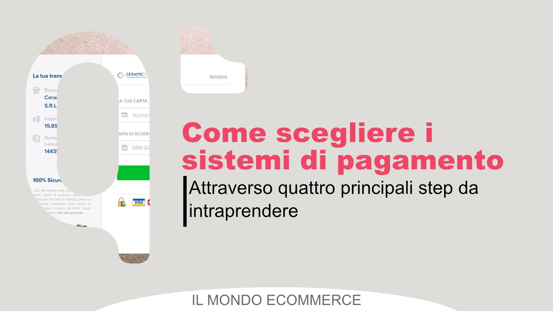 eCommerce: 4 passi per scegliere la tua soluzione di pagamento