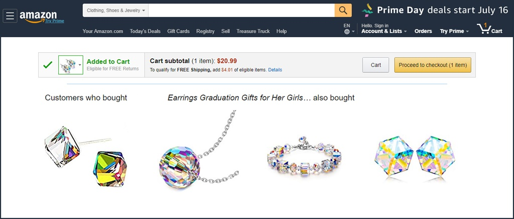 cross-selling Amazon